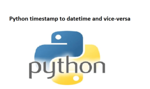 Python timestamp to datetime and vice-versa