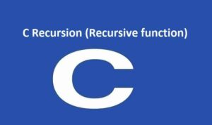C Recursion