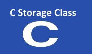 C Storage Class