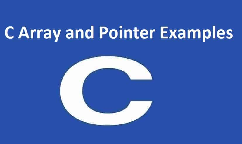 C Array and Pointer Examples