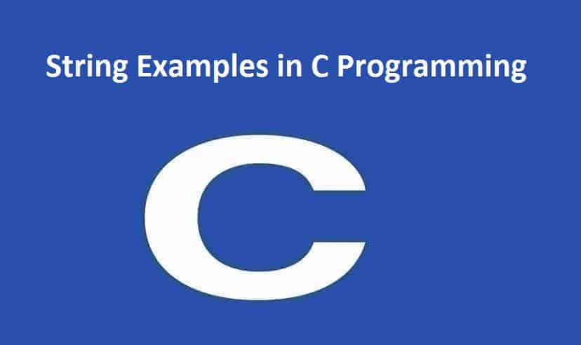 String Examples in C Programming