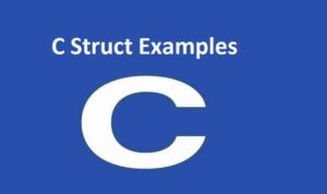 C Struct Examples