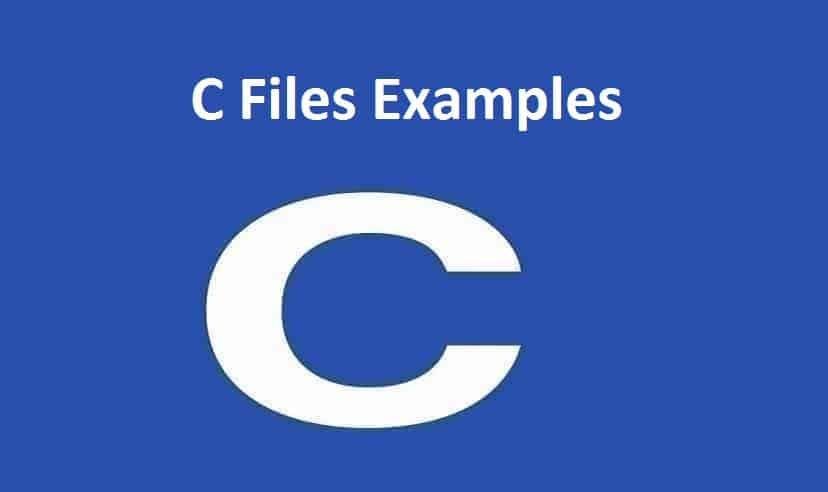 C Files Examples