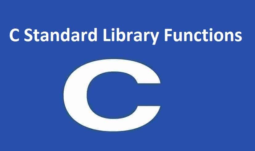 C Standard Library Functions