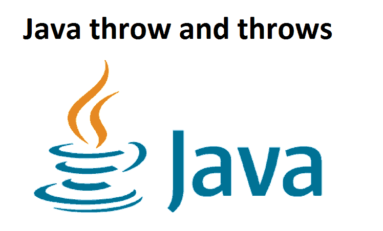 Java throw and throws