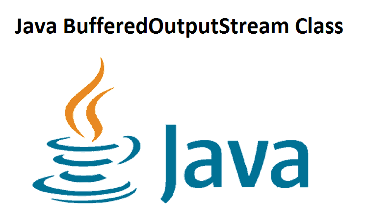 Java BufferedOutputStream Class