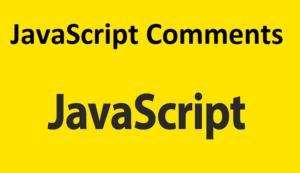 JavaScript Comments