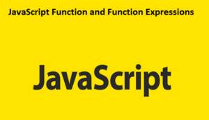 JavaScript Function and Function Expressions