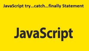 JavaScript try catch finally Statement