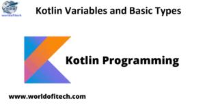 Kotlin Variables Types