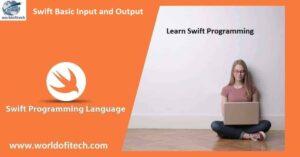 Swift Basic Input and Output