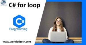 csharp for loop