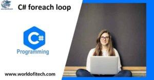 csharp foreach loop